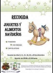 Recogida de juguetes y alimentos navideños (Parroquia de San Roque, Badajoz)