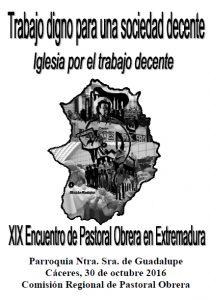XIX Encuentro regional de Pastoral Obrera (Cáceres)