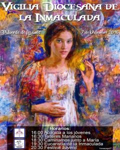 Vigilia diocesana de la Inmaculada (Valverde de Leganés)
