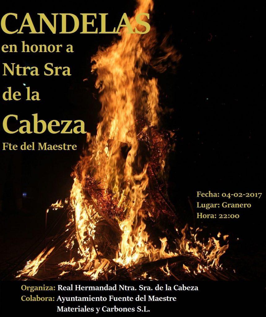 Candelas en honor a Ntra. Sra. de la Cabeza de Fuente del Maestre
