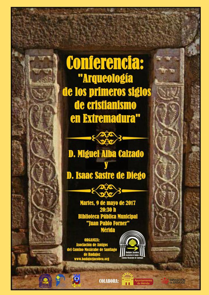 """Conferencia """"Arqueología de los primeros siglos de cristianismo en Extremadura"""""""