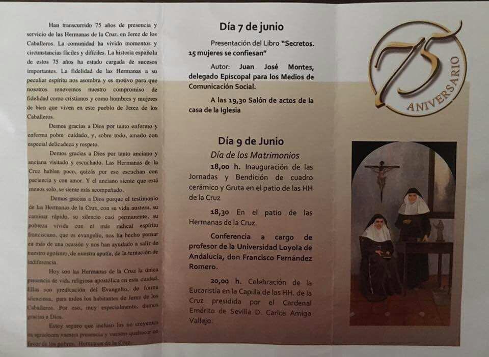 75 aniversario de las Hermanas de la Compañía de la Cruz - Jerez de los Caballeros -