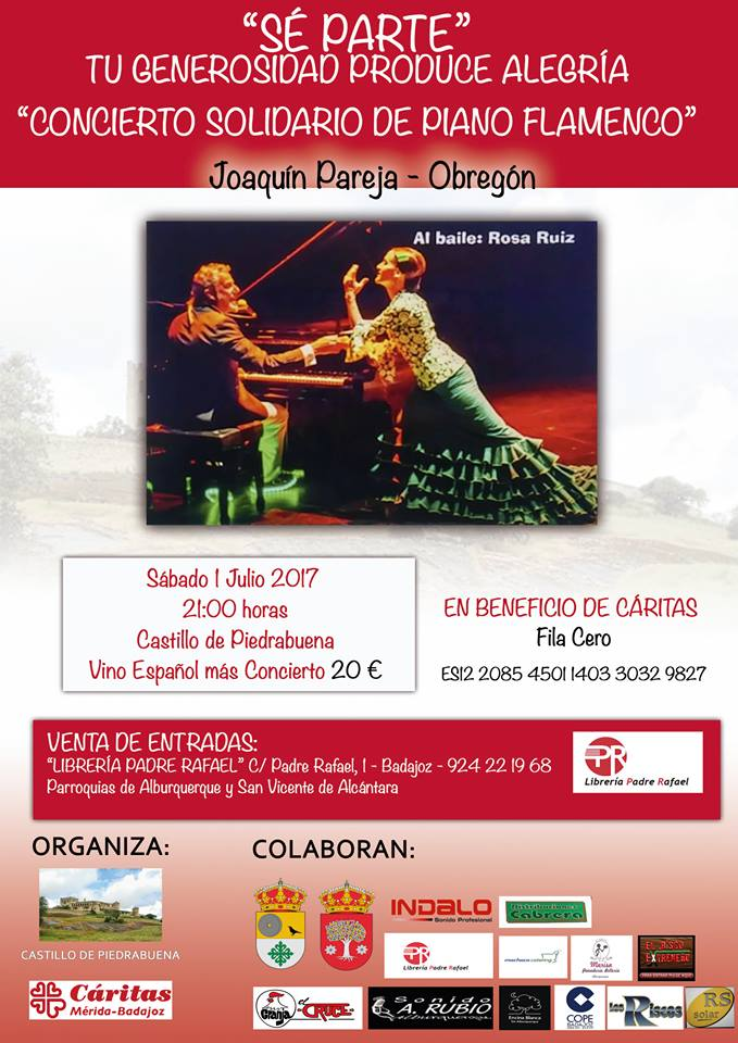 Concierto Solidario de piano flamenco en beneficio de Cáritas