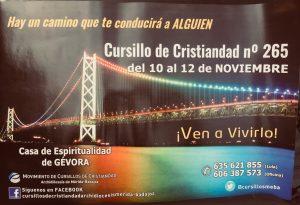 Cursillo de Cristiandad nº 265 (Casa de espiritualidad de Gévora)