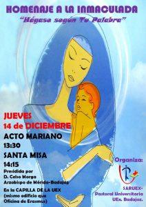 Homenaje a la Inmaculada (Capilla UEx Campus Badajoz)