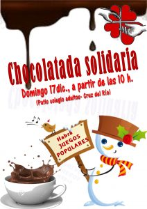 Chocolatada solidaria (Patio colegio adultos - Cruz del Río -Villanueva de la Serena)