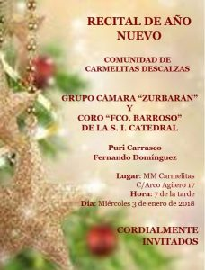 Recital de Año Nuevo (Madres Carmelitas -Badajoz) @ Badajoz | Extremadura | España
