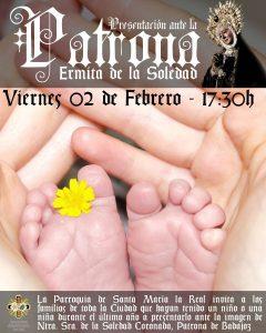Presentación niños a la Virgen de la Soledad (Badajoz)