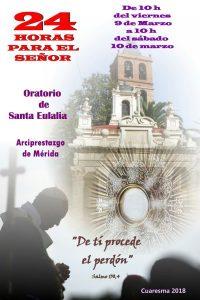 24 horas para el Señor (Oratorio de Santa Eulalia -Mérida)