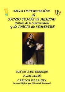 Misa santo Tomás de Aquino (Capilla Uex -Badajoz-)