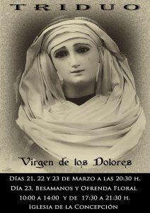 Triduo Virgen de los Dolores (Templo de la Concepción -Badajoz-)