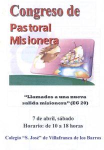 """Congreso de Pastoral Misionera (Colegio """"San José"""" -Villafranca de los Barros-)"""