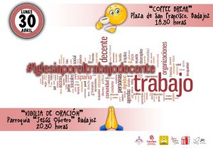 "Coffee break ""Iglesia por un trabajo decente"" (Plaza San Francisco -Badajoz-)"