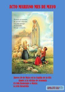 Acto mariano (Capilla de la UEx)