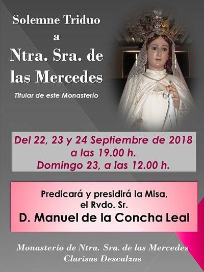 Triduo a Ntra. Sra. de las Mercedes (Templo convento clarisas descalzas -Badajoz-)