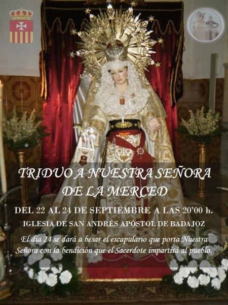 Triduo a Ntra. Sra. de la Merced (Parroquia San Andrés -Badajoz-)