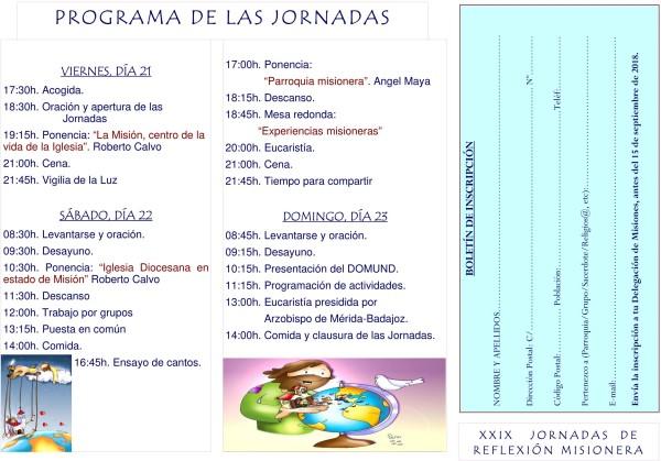 XXIX Jornadas interdiocesana de reflexión misionera (Pago de San Clemente -Trujillo-)