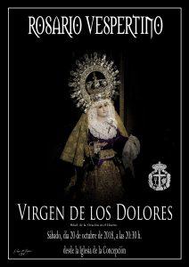 Rosario vespertino Virgen de los Dolores (Badajoz)