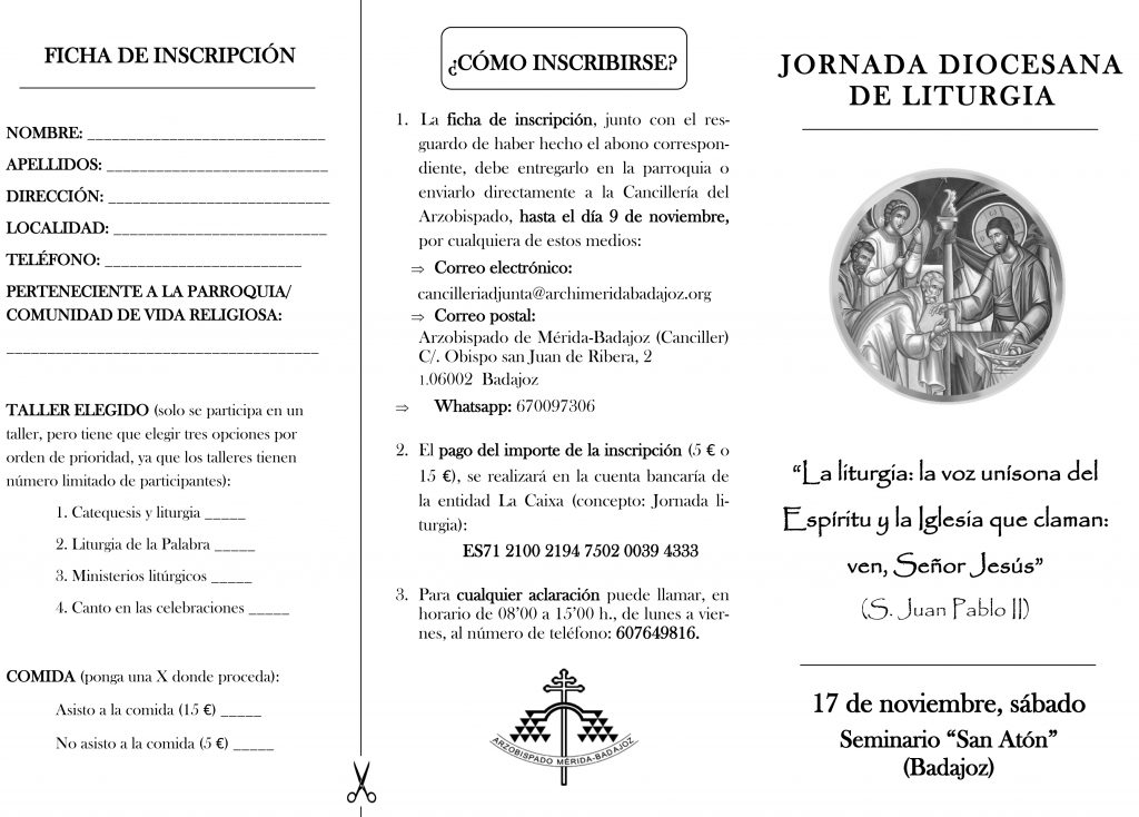 Jornada de Liturgia (Seminario -Badajoz-)