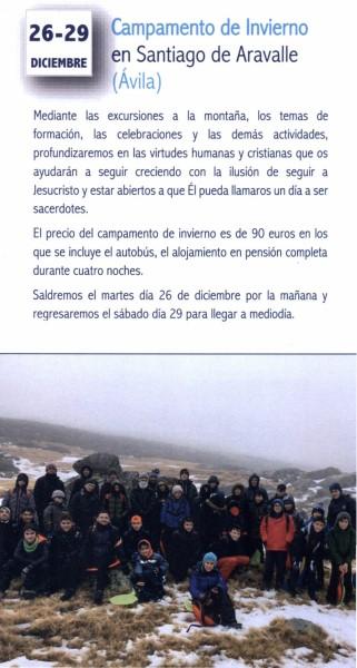 Campamento de invierno monaguillos (Santiago de Aravalle -Ávila-)