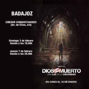 "Película ""Dios no está muerto"" (Cines Conquistadores -Badajoz-)"