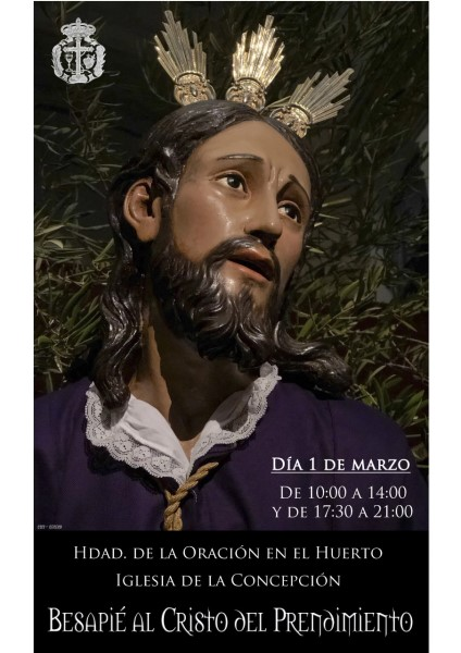 Besapié al Cristo del Prendimiento (Templo de la Concepción -Badajoz-)