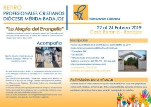 "Retiro ""Profesionales cristianos"" (Casa Betania -Badajoz-)"