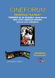 """Cine forum """"La ola"""" (R. U. Hernán Cortés -Badajoz-)"""