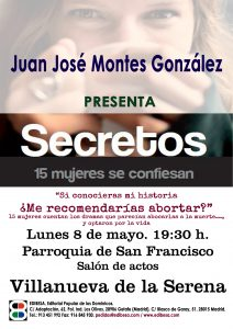 """Presentación del libro """"Secretos"""", en Villanueva de la Serena"""