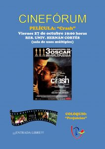 "Cinefórum ""Crash"" (Residencia Universitaria ""Hernán Cortés"" -Badajoz-)"