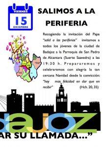 Celebración de Adviento para jóvenes JDJ (Parroquia de San Pedro de Alcántara -Badajoz-)