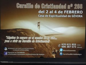 Cursillo de cristiandad Nº 266 (Casa espiritualidad en Gévora)