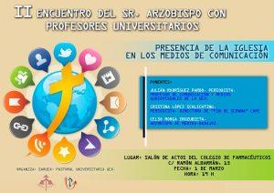 Encuentro del Arzobispo con profesores universitarios (Salón de actos del Colegio de Farmacéuticos -Badajoz-) @ Badajoz | Extremadura | España