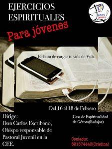 Ejercicios espirituales para jóvenes ( Casa de espiritualidad -Gévora-)