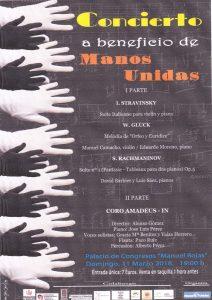 Concierto solidario Manos Unidas (Palacio de Congresos -Badajoz-)