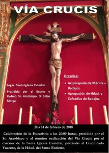 Misa y Via Crucis (Catedral Badajoz)