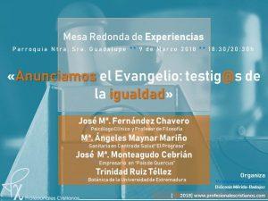 Mesa de experiencias (Parroquia Ntra. Sra. de Guadalupe -Badajoz-)