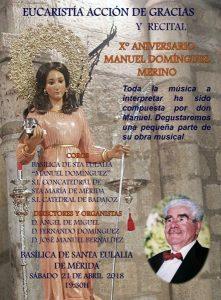 10º aniversario fallecimiento Manuel Domínguez Merino (Basílica Santa Eulalia -Mérida-)