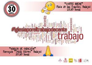 "Coffee break ""Iglesia por un trabajo decente"" (Plaza San Francisco -Badajoz-)"