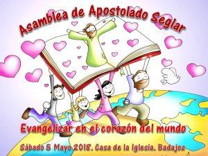 Asamblea de Apostolado Seglar (Casa de la Iglesia -Badajoz-) @ Badajoz | Extremadura | España