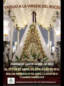 Triduo Virgen del Rocío (Parroquia Santa María la Real -Badajoz-)