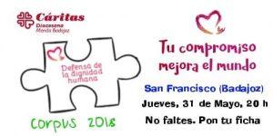 Acto Día de la Caridad (Plaza de San Francisco -Badajoz-)
