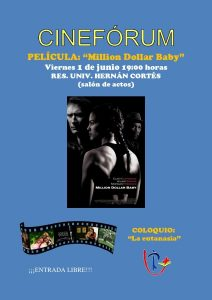 "Cinefórum ""Million Dollar Baby"" (Res. univ. Hernán Cortés -Badajoz-)"