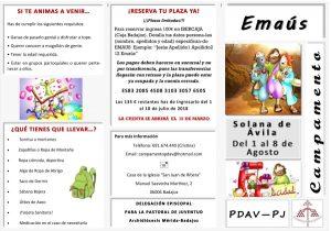 Campamento Emaús PDAV (Solana de Ávila)