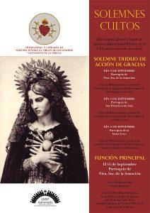 Triduo Virgen de los Dolores (Villanueva de la Serena)