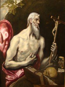 """Presentación del cuadro """"San Jerónimo Penitente"""" (El Greco) (Museo Catedral -Badajoz-)"""
