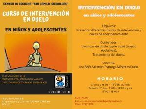 Curso de intervención en duelo en niños y adolescentes (Parroquia Ntra. Sra. de Guadalupe -Badajoz-) @ Badajoz | Extremadura | España