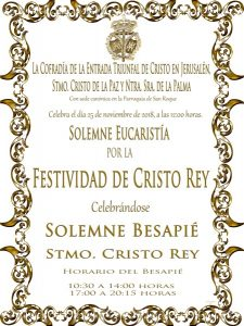 Besapié Cristo Rey (Parroquia San Roque -Badajoz-)