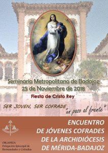 Encuentro diocesano de jóvenes cofrades (Seminario -Badajoz-)