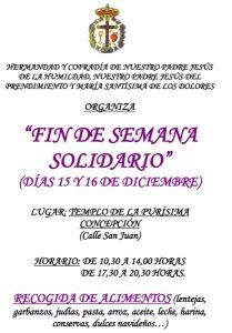 Fin de semana solidario (Templo de la Concepción -Badajoz-)